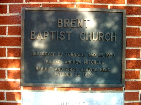 Plaque at Brent Baptist Church